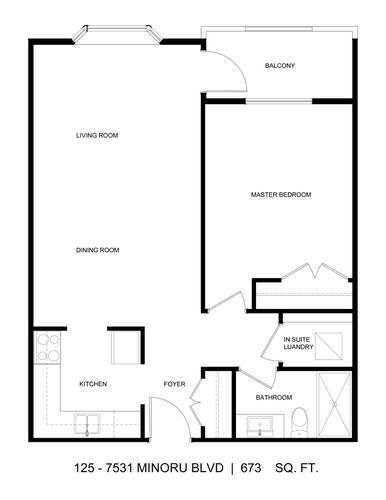 1 Bedroom Apartment for Rent in Cypress Point, 7531 Minoru Blvd, Richmond, BC - 1