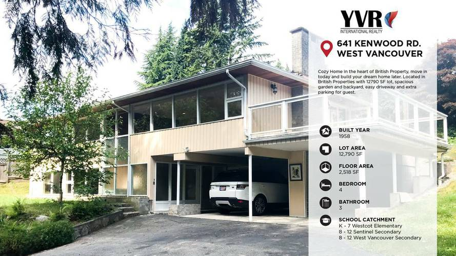 4 Bedrooms House for Rent in 641 Kenwood Rd, West Vancouver, BC - 1