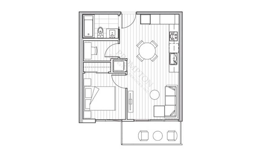 1 Bedroom Apartment for Rent in W1 (East Tower), 433 SW Marine Dr, Vancouver, BC - 1